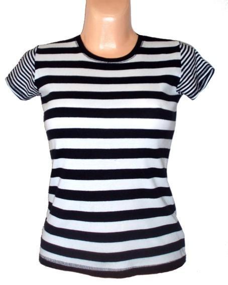 Kvalitní bavlněné proužkované triko, vel. 36