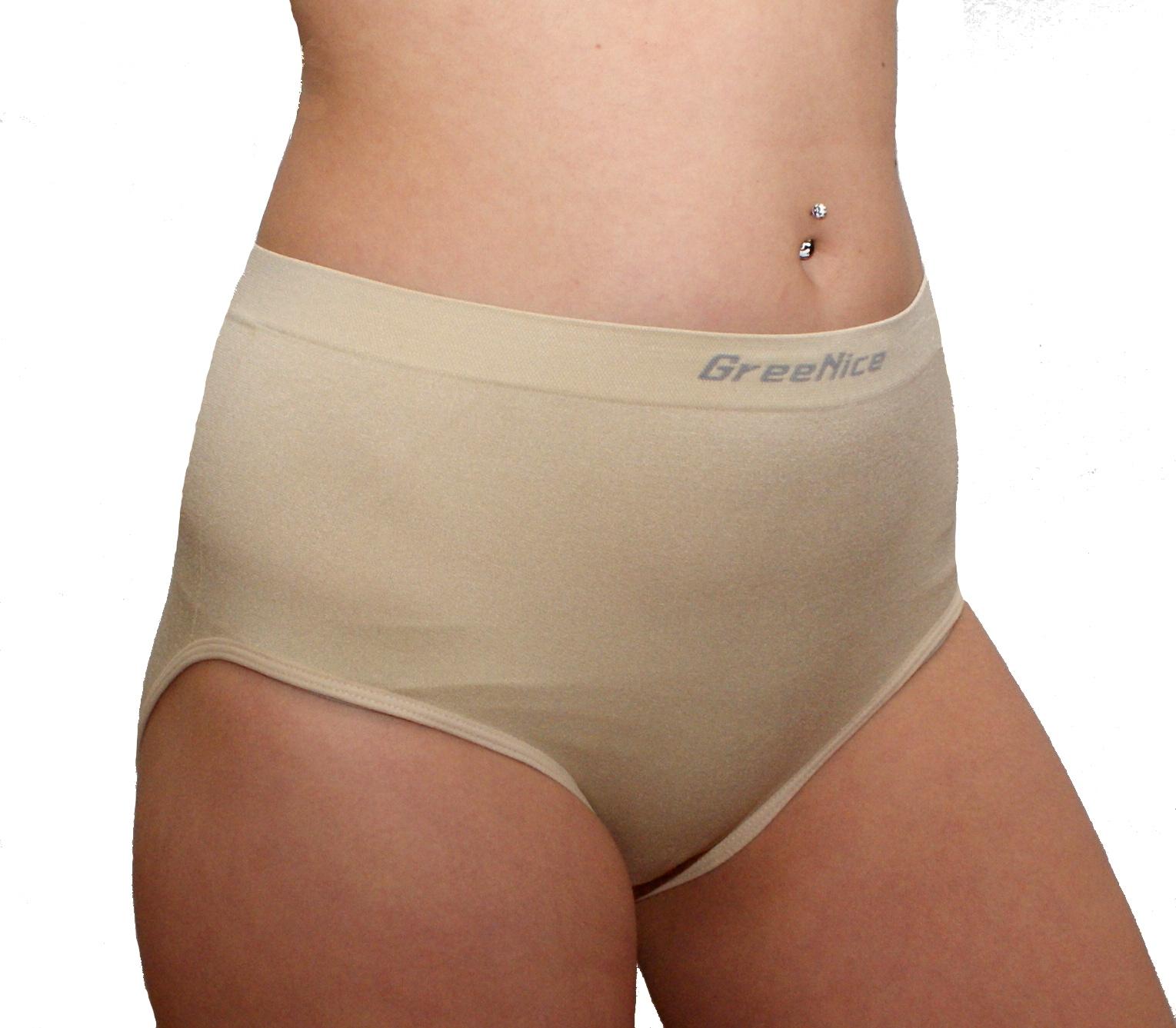 Dámské bezešvé kalhotky, vysoký sed, vel. XL/XXL - tělové