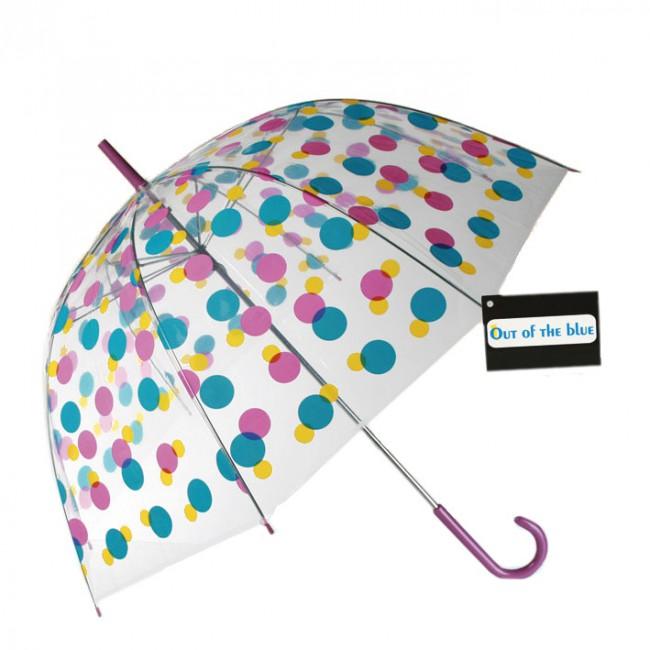 Transparentní deštník Barevný puntík